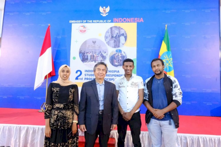 2nd Indonesia-Ethiopia Student Correspondence Program (IESCOP), Public Diplomacy Ambassador of the Republic of Indonesia H.E. Al Busyra Basnur in the Important Role of Young People from an Early Age.